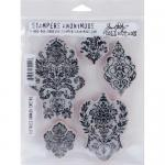 Stampers Anonymous/Tim Holtz Unmounted Rubber Stamps - [CMS190] Distress Damask
