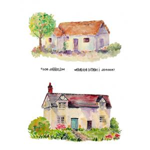 Joggles Collage Sheets - Watercolor Cottages 1 [JG401037]