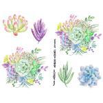 Joggles Collage Sheets - Watercolor Succulents I [JG401032]