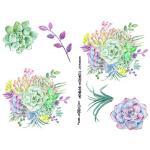 Joggles Collage Sheets - Watercolor Succulents II [JG401033]
