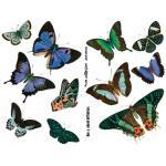 Joggles Collage Sheets - Blue & Green Butterflies [JG401028]
