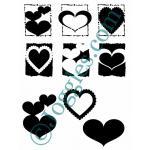 Joggles Stencil-Mask Combo - Hearts [10-33779]