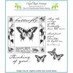 Chapel Road Artstamps - Butterfly Square [7011]