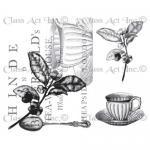 Chapel Road Artstamps - Tea Collage [7062]