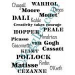 Joggles Stencils - Creativity Takes Courage [10-33777]