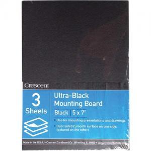 "Crescent Ultra Black Mounting Board 5"" x 7"""