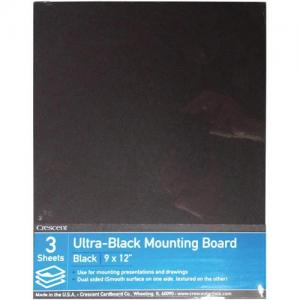 "Crescent Ultra Black Mounting Board 9"" x 12"""