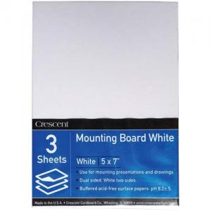 """Crescent White Mounting Board 5"""" x 7"""""""