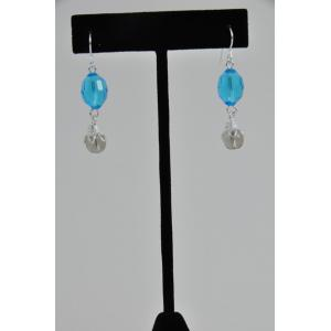 Crystal & Bead Dangle Earring Kit Made To Order - Aqua
