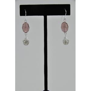 Crystal & Bead Dangle Earring Kit - Light Amethyst