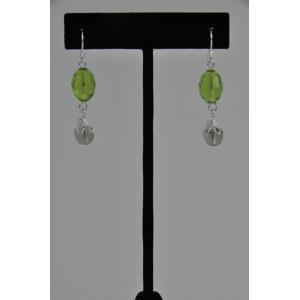 Crystal & Bead Dangle Earring Kit Made To Order - Light Olivine