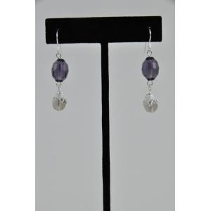 Crystal & Bead Dangle Earring Kit Made To Order - Dark Amethyst