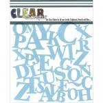 "Clear Scraps 6"" x 6"" Stencil - ABCs"