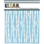 """Clear Scraps 6"""" x 6"""" Stencil - Bamboo"""
