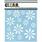 """Clear Scraps 6"""" x 6"""" Stencil - Daisies"""