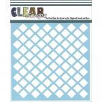 "Clear Scraps 6"" x 6"" Stencil - Diamonds"