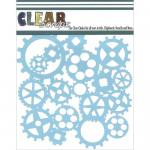 "Clear Scraps 6"" x 6"" Stencil - Gears"