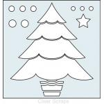 """Clear Scraps 6"""" x 6"""" Stencil - Layered Christmas Tree"""