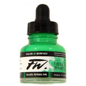 Daler Rowney FW Acrylic Ink - Emerald Green