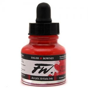 Daler Rowney FW Acrylic Ink - Flame Red