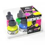 Daler Rowney FW Acrylic Ink Set - Neon Colours