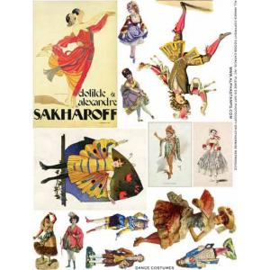Alpha Stamps Fabric Sheet - Dance Costumes - ON SALE!