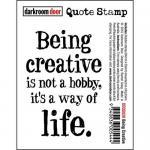 Darkroom Door Quote Cling Stamp - Being Creative