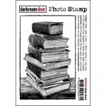Darkroom Door Photo Cling Stamp - Book Stack