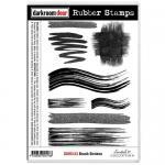 Darkroom Door Cling Stamp Sheet - Brush Strokes