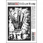 Darkroom Door Collage Cling Stamp - Create Art