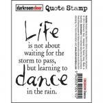 Darkroom Door Quote Cling Stamp - Dance