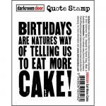 Darkroom Door Quote Cling Stamp - Eat More Cake