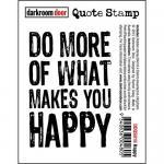 Darkroom Door Quote Cling Stamp - Happy