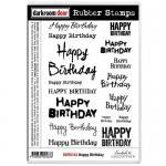 Darkroom Door Cling Stamp Sheet - Happy Birthday