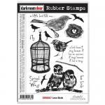 Darkroom Door Cling Stamp Sheet - Love Birds