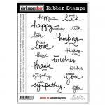 Darkroom Door Cling Stamp Sheet - Simple Sayings
