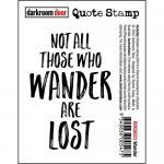 Darkroom Door Quote Cling Stamp - Wander