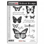 Darkroom Door Cling Stamp Sheet - Wings