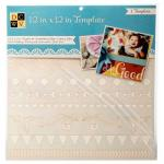"""Diecuts With A View 12"""" x 12"""" Template - Borders [00020]"""