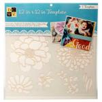 """Diecuts With A View 12"""" x 12"""" Template - Flowers [00022]"""