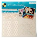 """Diecuts With A View 12"""" x 12"""" Template - Patterns [00023]"""