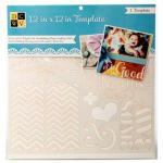 """Diecuts With A View 12"""" x 12"""" Template - Sayings & Patterns [00021]"""
