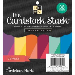 """Die Cuts With A View 6"""" x 6"""" Cardstock Stack - Jewels"""