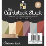 """Die Cuts With A View 6"""" x 6"""" Cardstock Stack - Neutrals"""