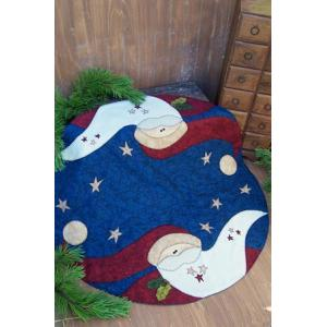 DD - 'Stardust Santa' Christmas Tree Skirt