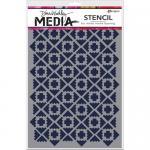 Dina Wakley Media Stencil - Almost Ikat