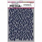 Dina Wakley Media Stencil - Leafy