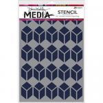 Dina Wakley Media Stencil - Stacked Squares