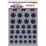 Dina Wakley Media Stencil - Variegated Stars
