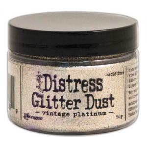 Tim Holtz® Distress Glitter Dust - Vintage Platinum